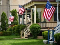 American-flags-outside-homes